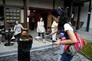 disfrutando en Takayama