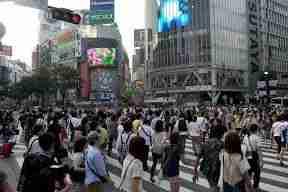 el famoso cruce de Tokyo