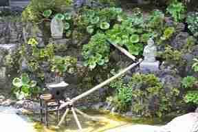 fuente templo en Kamakura