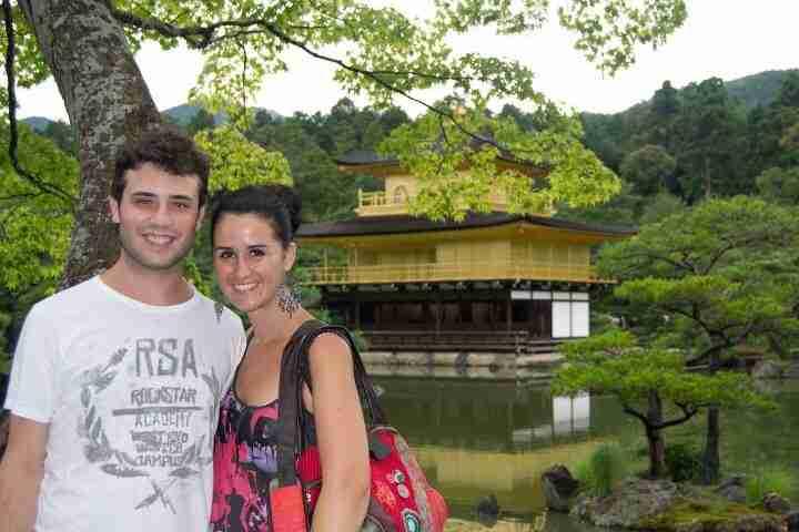Nosotros en el templo dorado de Kyoto