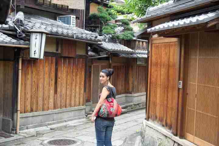 recorriendo el distrito de ensueño de Kyoto