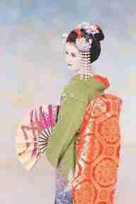 Angela vestida de maiko en Kyoto