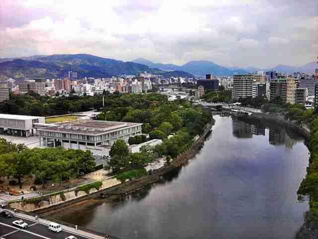 hiroshima vistas desde el hotel del parque de la paz