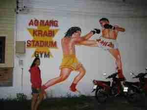 en el gimnasio de Muay Thai