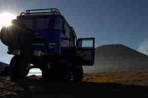vistas desde el jeep al Bromo