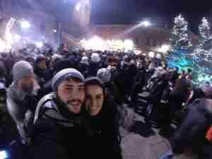 celebrando Año nuevo 2015 en Bergamo