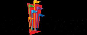 Six flags logo blanco