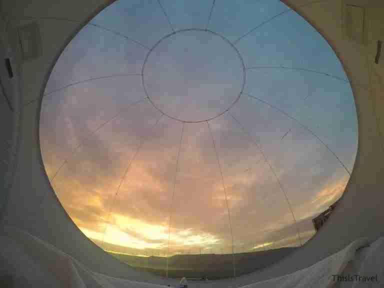 cielo desde el interior de la cápsula