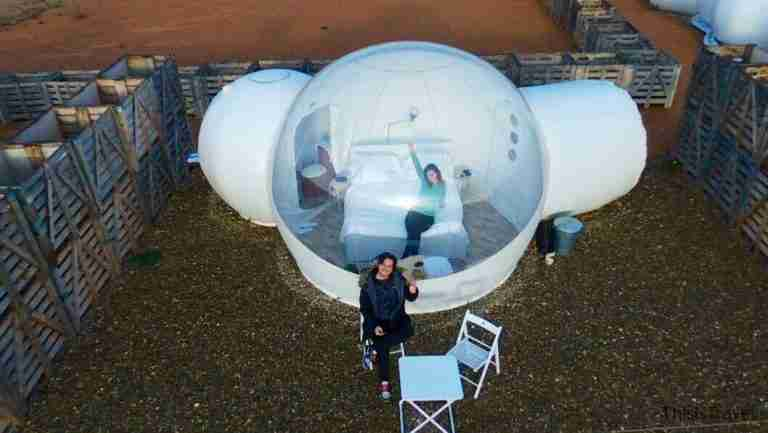 Aire de Bardenas capsula lunar desde el cielo