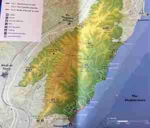 mapa rutas sierra d'irta