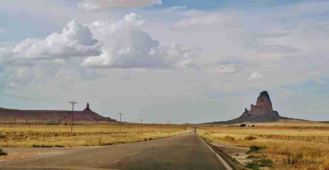 de camino a Monument valley
