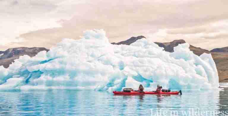 Edu y Lorena en Kayak por Groelandia