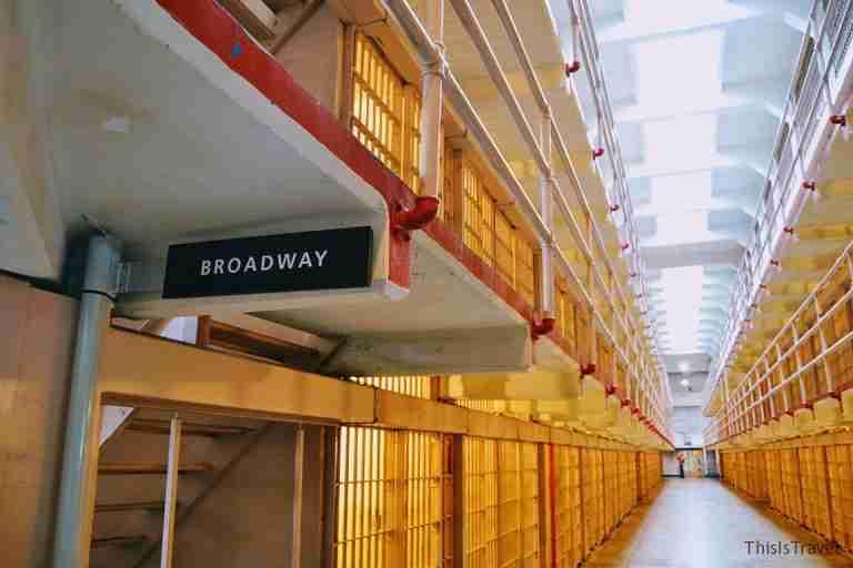 alcatraz, pasillo de la cárcel
