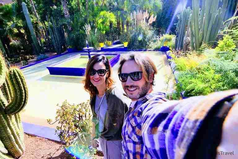 thisistravel en el jardin majorelle en Marrakech