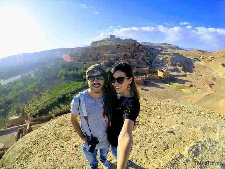 super vistas de Aït Ben Haddou en el sur de Marruecos