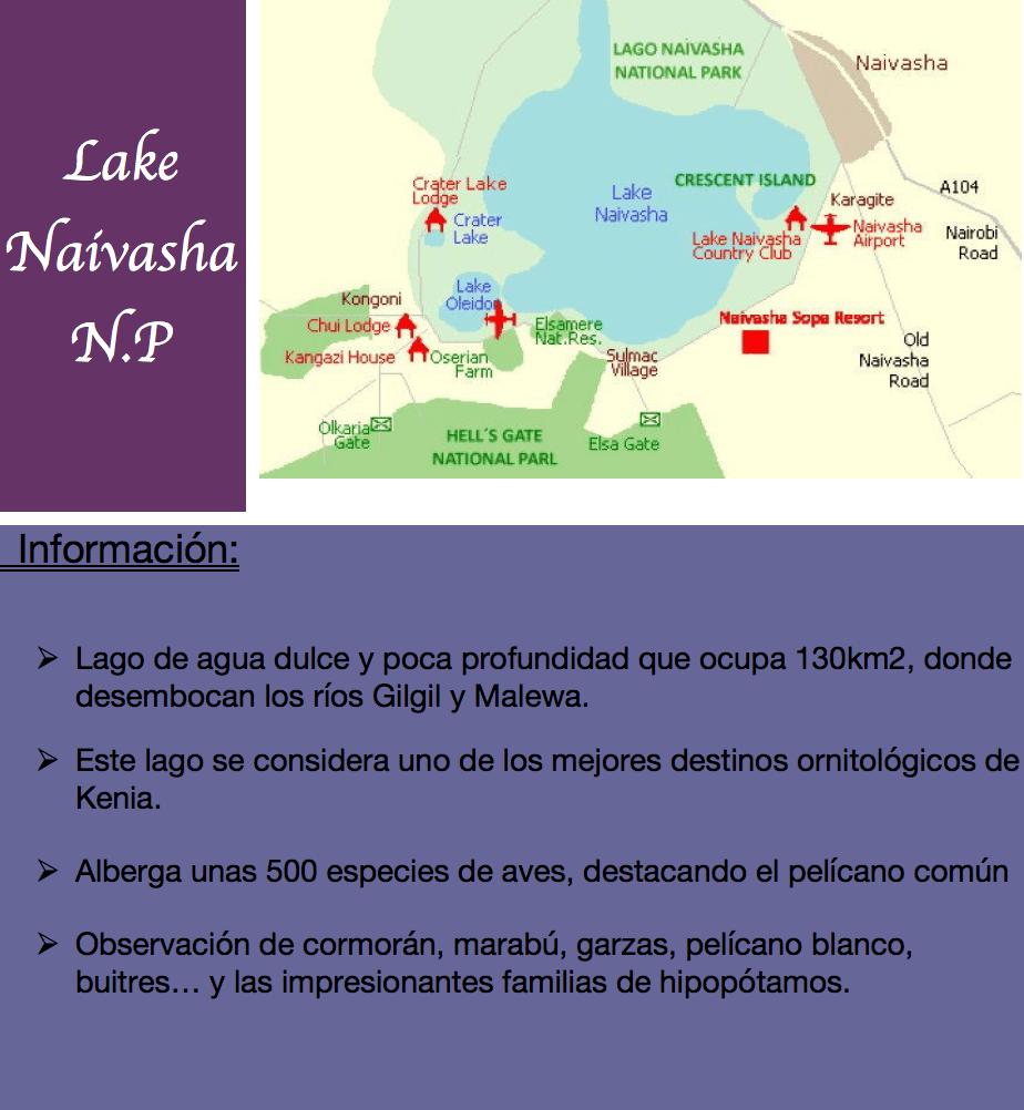 lago Naivasha informacion