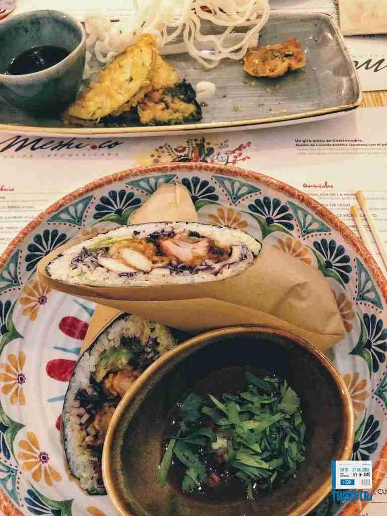 sushi y mexicano