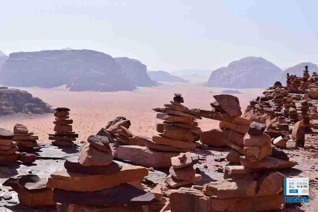 paisaje rocoso y zen en el Wadi RUm
